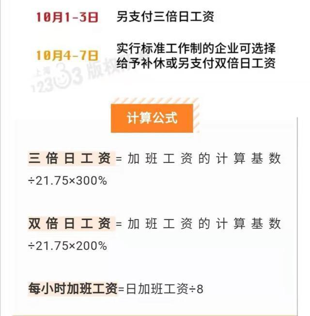 2020年国庆节中秋节是同一天,加班会不会有6倍工资?
